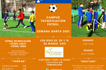 campamento fútbol semana santa 2021