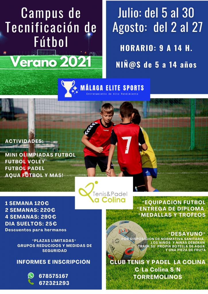 Campus de tecnificación fútbol Verano 2021- Málaga Elite Sports-min