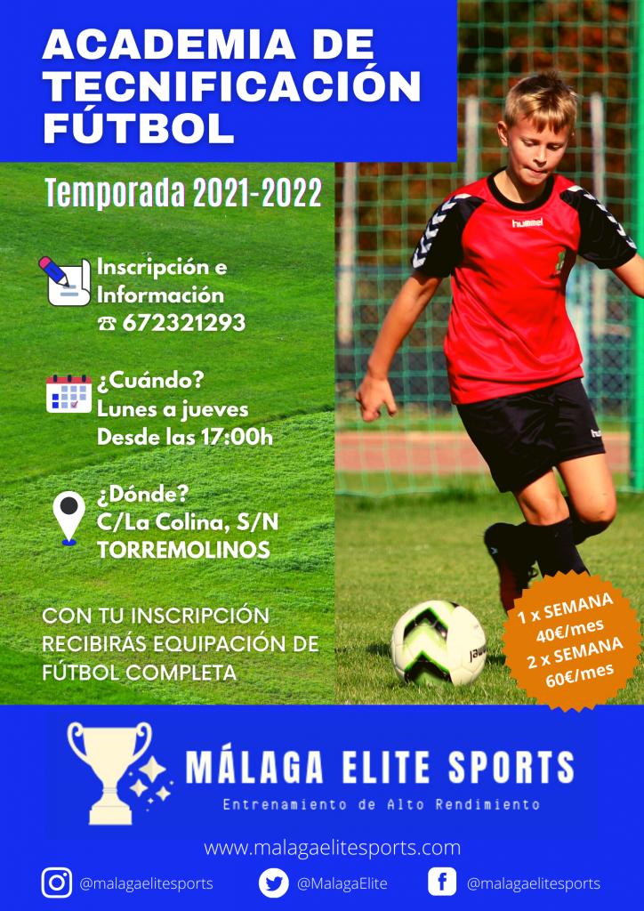 escuela de tecnificación fútbol málaga